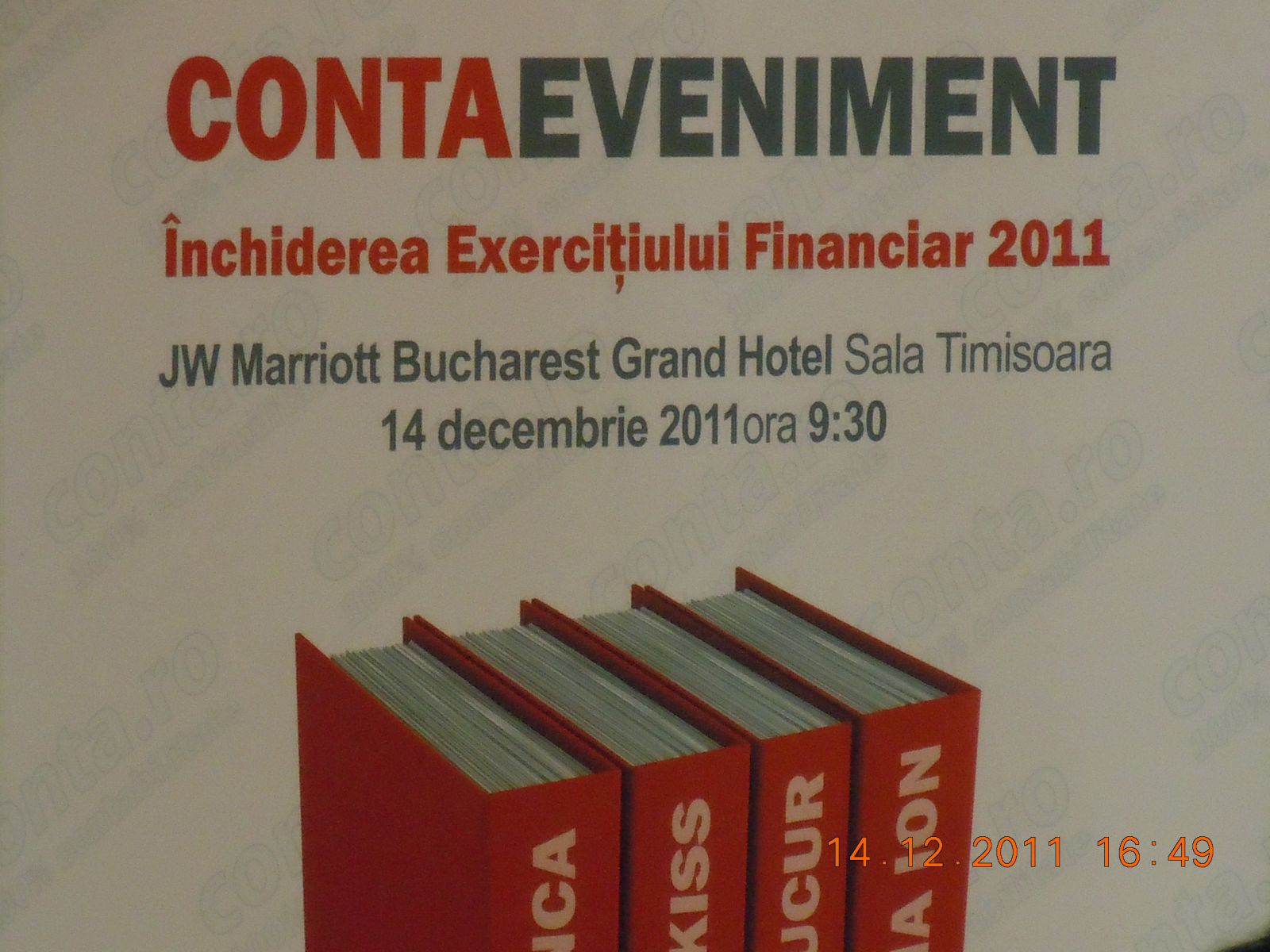 INCHIDEREA EXERCITIULUI FINANCIAR 2011