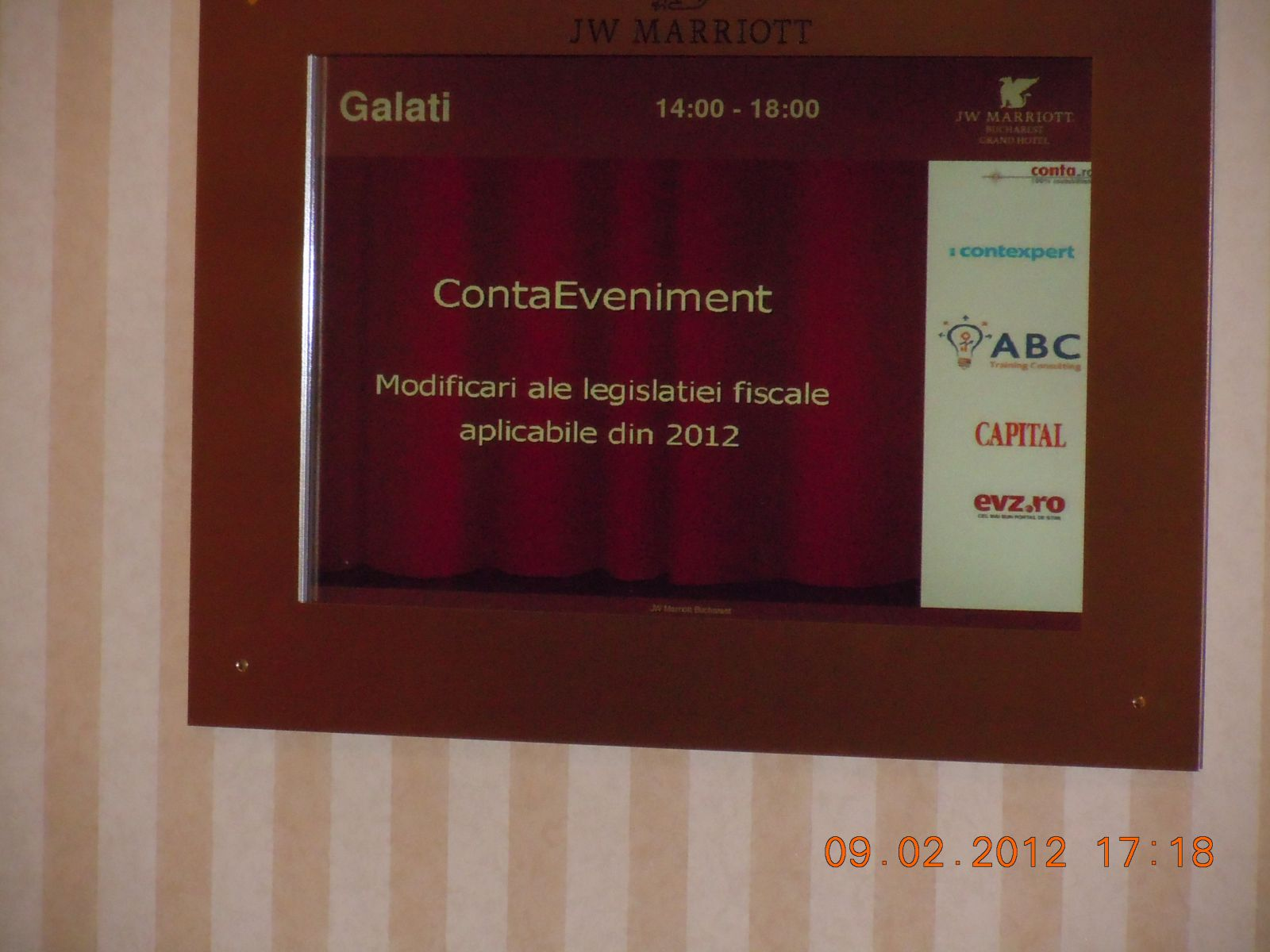 ContaEveniment 9 feb 2012